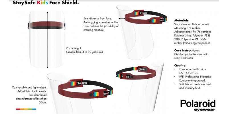 POLAROID PROTECTIVE SHIELD STAYSAFE FOR KIDS